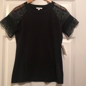 Maette Sold by Stella and Dot Lace-sleeve Top NWT